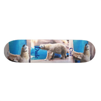 Cool Dude Polar Bear Boar Custom Skate Board