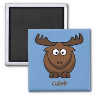 Cool elk square magnet
