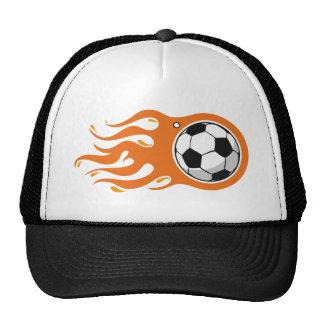 Cool Fire Soccer Ball hat