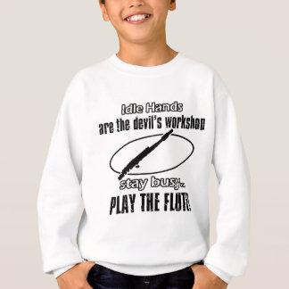 Cool Flute designs Sweatshirt