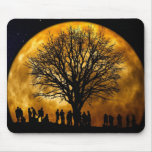Cool Full Harvest Moon Tree Silhouette Gifts Mousemat