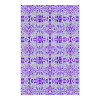 Cool Funky Lavender Fractal Tribal Pattern Stationery
