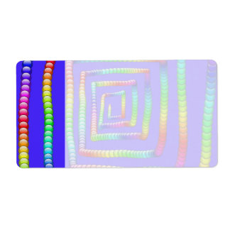 Cool Funky Rainbow Maze Rolling Circle Spheres Des Shipping Label
