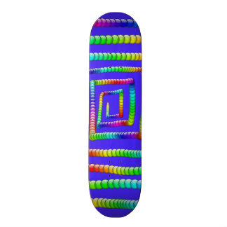Cool Funky Rainbow Maze Rolling Circle Spheres Des Skate Deck