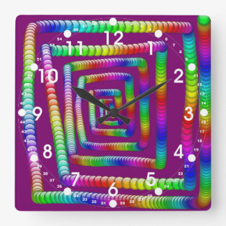 Cool Funky Rainbow Maze Rolling Marbles Design Wall Clock
