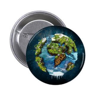 Cool Future Planet Earth Globe Design 6 Cm Round Badge