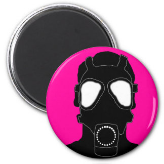 cool gas mask 6 cm round magnet