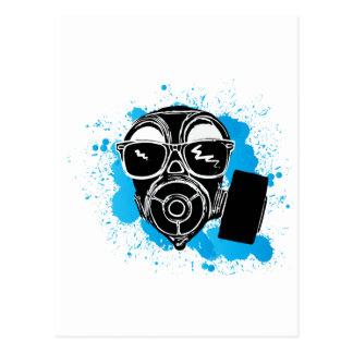 Cool gasmask postcard