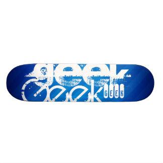 Cool Geek; Royal Blue Stripes Skate Boards