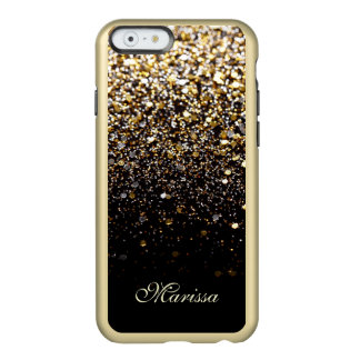 Cool Gold Glitter Black Feather® iPhone 6 Case