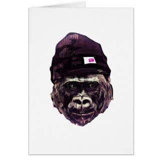 Cool Gorilla with cap Card