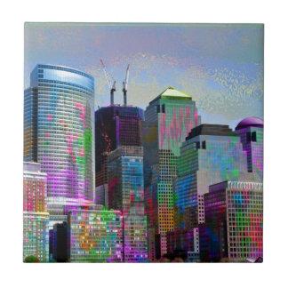 Cool graffiti splatters watercolours New York city Ceramic Tiles