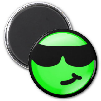 Cool-Green 6 Cm Round Magnet