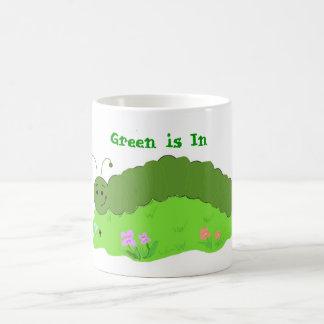 Cool Green Caterpillar Coffee Mug