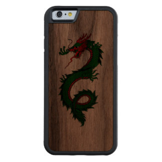 Cool green Chinese dragon tattoo Walnut iPhone 6 Bumper Case