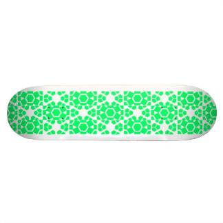 Cool green graphical design skateboard