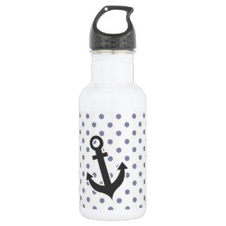 Cool Grey Polka Dots; Anchor 532 Ml Water Bottle