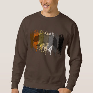 Cool Grunge Bear Shadow Gay Bear Pride Sweatshirt