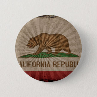 Cool Grunge California Flag 6 Cm Round Badge