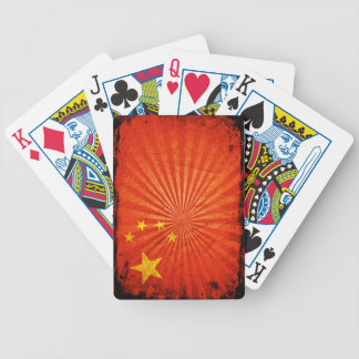 Cool Grunge Chinese Flag Bicycle Playing Cards