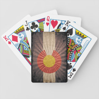 Cool Grunge Colorado Flag Bicycle Playing Cards