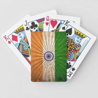 Cool Grunge Indian Flag Bicycle Playing Cards
