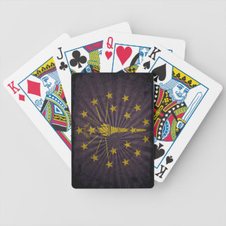 Cool Grunge Indiana Flag Bicycle Playing Cards