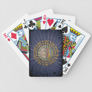Cool Grunge New Hampshire Flag Bicycle Playing Cards