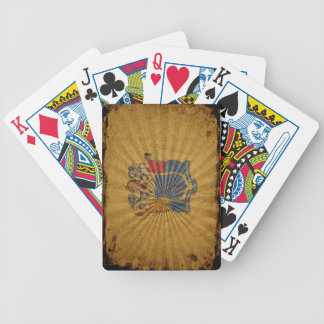 Cool Grunge New Jersey Flag Bicycle Playing Cards