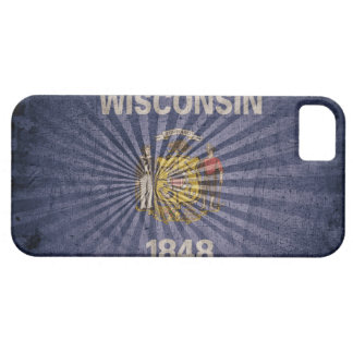 Cool Grunge Wisconsin Flag Case For The iPhone 5