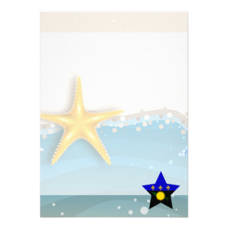 Cool Guadeloupe Flag at the Beach 13 Cm X 18 Cm Invitation Card