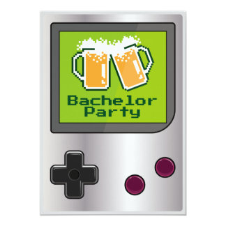 Cool Handheld Game Beers Bachelor Party Card