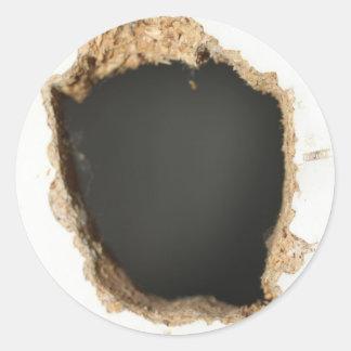 cool hole effect round sticker