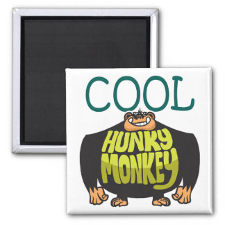 Cool Hunky Monkey Square Magnet