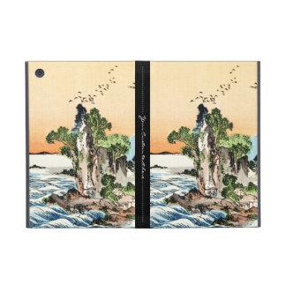 Cool japanese vintage ukiyo-e sea rock village art iPad mini case