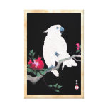 Cool japanese white cockatoo parrot tropical bird gallery wrapped canvas
