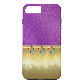 Cool Jewel Pattern Metallic Gold iPhone 7ld Case