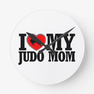 cool Judo  mom designs Round Clock