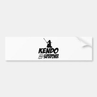 Cool KENDO designs Bumper Sticker