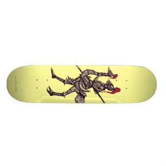 Cool knight on ostrich graphic art skateboard