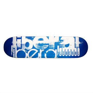 Cool Liberal; Royal Blue Stripes Skateboards