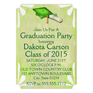 Cool Limony Stars Graduation Invitations