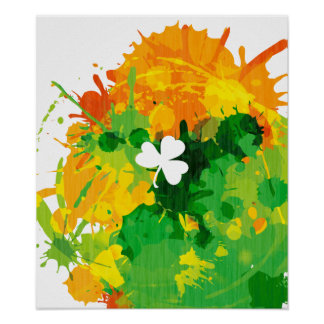 Cool Lucky Ink Clover Poster