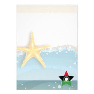 Cool Malawi Flag at the Beach 13 Cm X 18 Cm Invitation Card