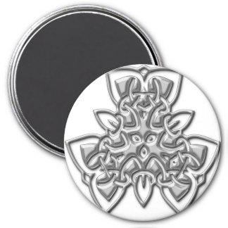 Cool Metallic Celtic Knot Magnets