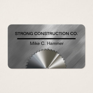 Cool Metallic Construction Business Cards