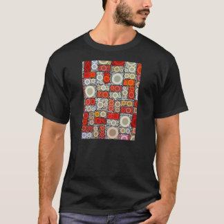 Cool Modern Circle Orange Red Mosaic Tile T-Shirt