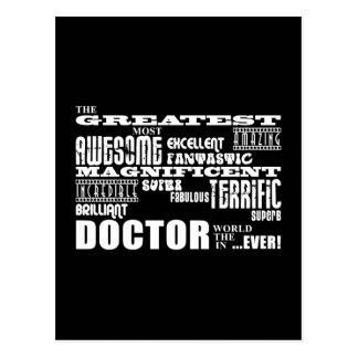 Cool Modern Fun Doctors Greatest Doctor World Ever Postcard