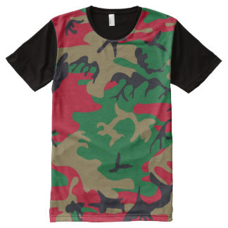 Cool Modern Military Camouflage Design All-Over Print T-Shirt