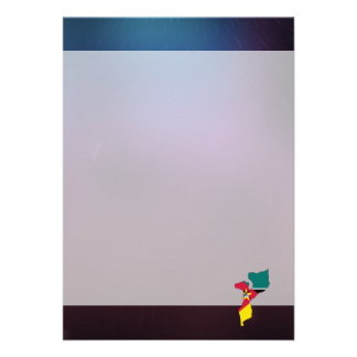 Cool mozambique Flag Map 13 Cm X 18 Cm Invitation Card